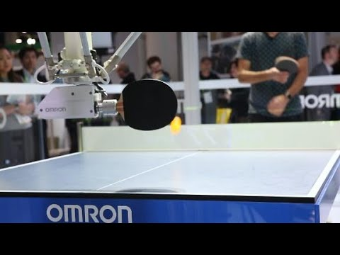 We played ping pong against a robot