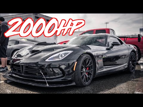 2000HP Sequential Viper RIPS to 200MPH on STREET TIRES! - RWD V10 on BOOST