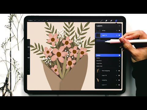 Draw a Wrapped Flower Bouquet in Procreate [Valentine's Series!]