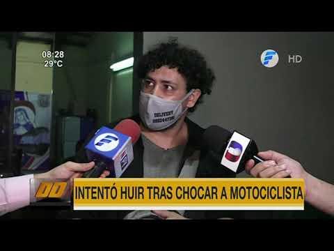 Intentó huir tras chocar a un motociclista en Limpio