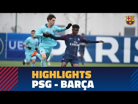 [HIGHLIGHTS] PSG - FC Barcelona (0-1) UEFA Youth League Round of 16