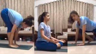 Keerthy Suresh Latest Yoga Workouts | Keerthy Suresh Yoga Videos - RAJSHRITELUGU