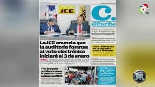 Lectura de los Principales Periódicos Nacionales del Jueves  23 de Diciembre 2019 | Hoy Mismo