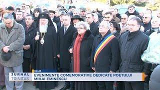 Evenimente comemorative dedicate poetului Mihai Eminescu