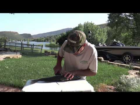 Chad LaChance shows how to fillet a walleye