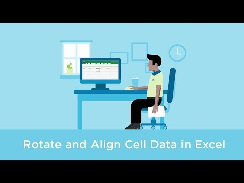 Rotate and align cell data in Excel