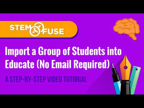 connectYoutube - Importing Students