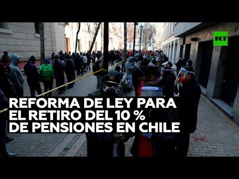 Comisión del Senado de Chile lleva a plenaria una reforma de ley para el retiro de pensiones