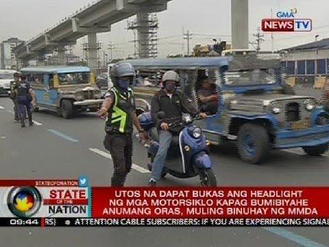 Utos na dapat laging bukas ang motorcycle headlight kapag bumibiyahe, muling binuhay ng MMDA