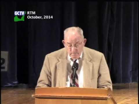 Representative Town Meeting, October, 2014