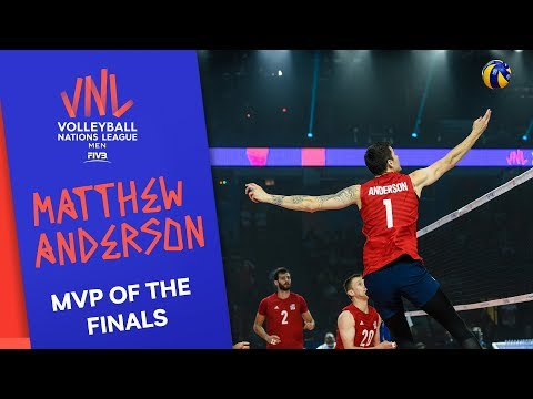 Matthew Anderson - Best Opposite Spiker and MVP of the Finals   Volleyball Nations League 2019