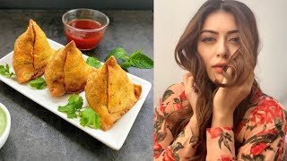 Actress Hansika Making Samosa | Hansika Latest Video | Celebrities Cooking Video - RAJSHRITELUGU