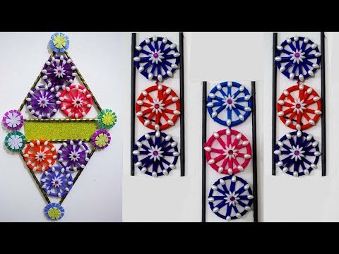 How to make Wall Hanging from Old Bangles - Home decoration using bangles - Reuse old bangles ideas