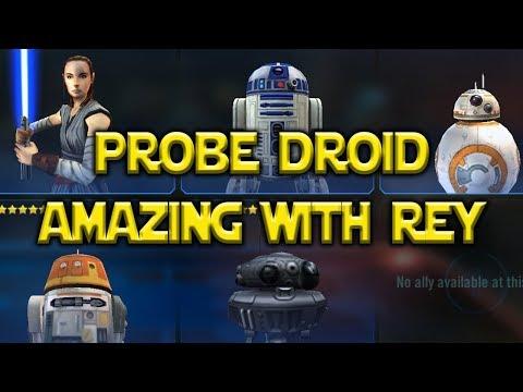 connectYoutube - Probe Droid Is Amazing w/ Rey Jedi Training   Star Wars: Galaxy Of Hereoes - SWGoH