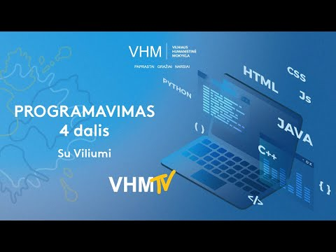 Vilniaus humanistinė pamoka. Programavimo pamoka (4 dalis)