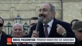Primer ministro de Armenia dice a militares que pidieron su salida no entrometerse en política