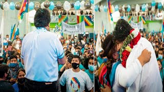 ASÍ EVO MORALES SE REUNIÓ CON RESIDENTES BOLIVIANOS EN VILLA CELINA EN BUENOS AIRES ARGENTINA - 2020