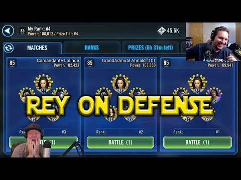 connectYoutube - Star Wars: Galaxy Of Heroes - Jedi Training Rey - Good On Defense?