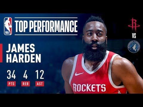 connectYoutube - James Harden Drops 34 &12 in Minnesota!