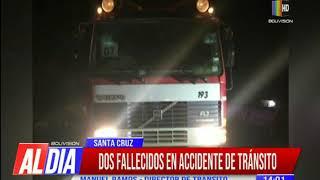 Dos fallecidos dejó un accidente de tránsito registrado en la carretera Santa Cruz – Warnes