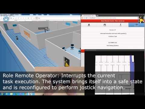 Robotino®3 Simulated Hospital Transportation Scenario