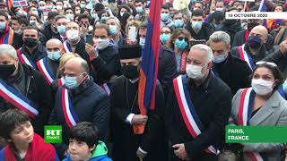 Manifestation de soutien à l'Arménie dans le centre de Paris