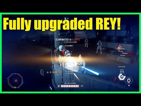 Star Wars Battlefront 2 - Fully upgraded Rey is a beast! | Huge Rey killstreak!