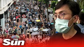 Hong Kong police fire water cannons, tear gas and arrest those protesting new China security law