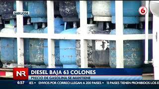 Aresep aprobó una rebaja en el Diesel y gas de cocina LPG