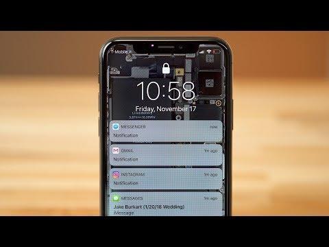 How to disable Hidden Lockscreen Notifications on iPhone X