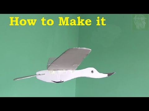 How to make a hanging flying brind - A science toy for kids