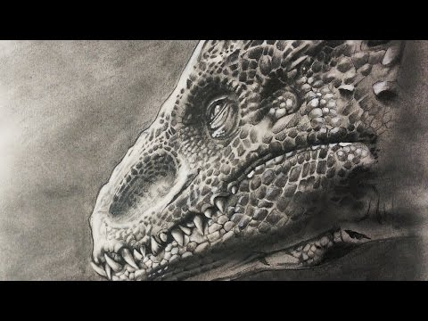 indominus rex jurassic world speed drawing how to tomclip