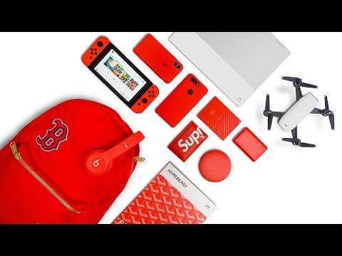 WHAT'S IN MY TECH BACKPACK | RED EDITION