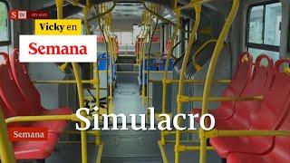 TransMilenio y SITP vacíos: así se mueven por Bogotá quienes trabajan durante el simulacro | Vicky