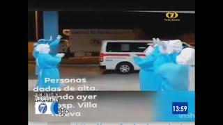 Emotiva despedida de recuperados de COVID-19 en Villa Nueva