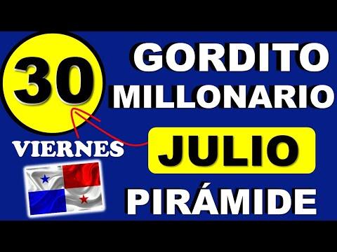 Piramide Suerte Decenas Para Viernes 30 de Julio 2021 Loteria Nacional de Panama Gordito Millonario