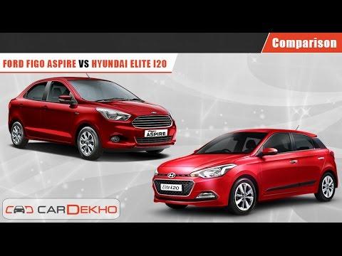 Hyundai Elite i20 VS Ford Figo Aspire   Comparison Video   CarDekho.com