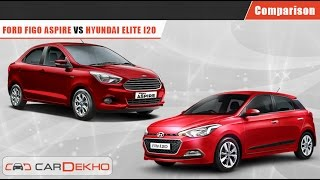 Ford Figo Aspire VS Elite i20 | Comparison Video | CarDekho.com