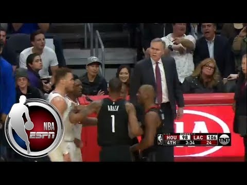 connectYoutube - Blake Griffin and Chris Paul get chippy in CP3's return to Los Angeles | ESPN