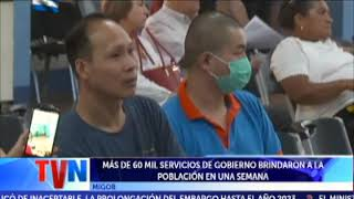 MÁS DE 60 MIL SERVICIOS DE GOBIERNO A LA POBLACIÓN EN UNA SEMANA