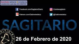 Horóscopo Diario - Sagitario - 26 de Febrero de 2020