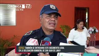 Estación de bomberos de La Trinidad cuenta con título de propiedad - Nicaragua