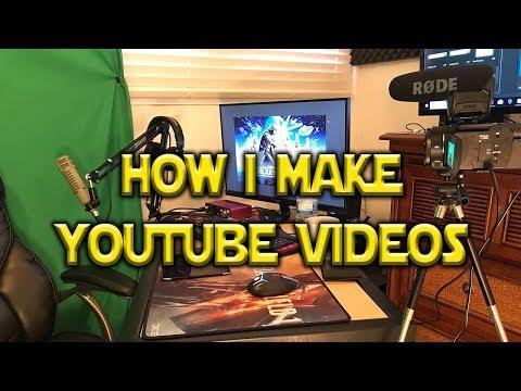 connectYoutube - How I Make YouTube Videos - Studio Tour January 2018