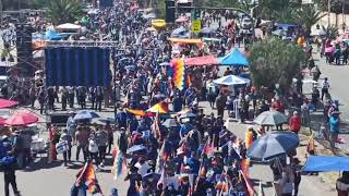 El pueblo se va sumando a la gran concentración del MAS-IPSP en la ciudad de Cochabamba, en respald