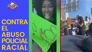 Amara La Negra protestando en Miami contra el abuso policial racial