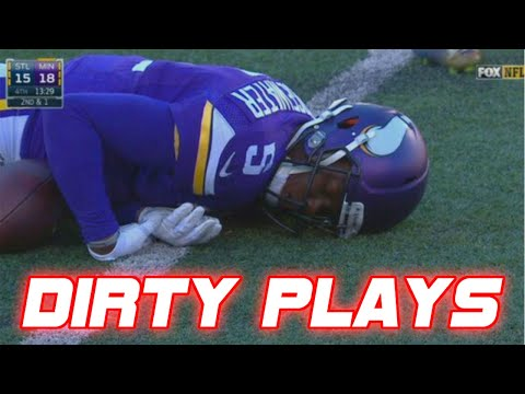 connectYoutube - Dirtiest Cheap Shots in NFL Football History (DIRTY)