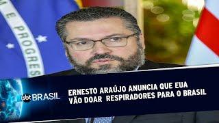 Ernesto Araújo anuncia que EUA vão doar 1 mil respiradores ao Brasil | SBT Brasil (25/05/20)