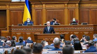 Prezidentas kreipiasi į ukrainiečių tautą Aukščiausiojoje Radoje