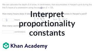 Interpret proportionality constants