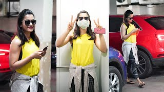 Rashmika Mandanna Spotted Outside Gym   Telugu Actress Gym Videos   TFPC - TFPC